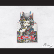 Jimi Hendrix 10 Comic Sounds Basketball Jersey