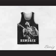 Jimi Hendrix 10 Guitar Solo Black Basketball Jersey