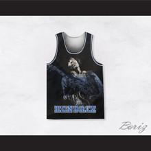 Jimi Hendrix 10 Guitar Solo Blue Basketball Jersey