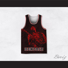 Jimi Hendrix 10 Guitar Solo Red Basketball Jersey