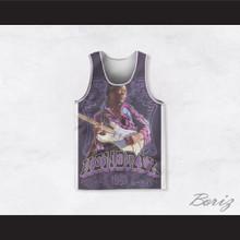 Jimi Hendrix 10 Purple 1960 Design Basketball Jersey