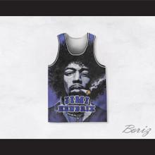 Jimi Hendrix 10 Smoke Basketball Jersey