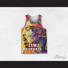 Jimi Hendrix 10 Graffiti Style Basketball Jersey