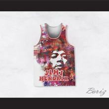 Jimi Hendrix 10 Painting Style Basketball Jersey