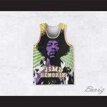 Jimi Hendrix 10 Cosmic Rays Basketball Jersey