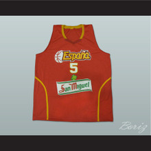 Rudy Fernandez Espana Basketball Jersey Red