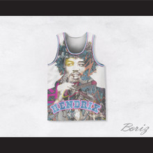 Jimi Hendrix 10 Funky Illustration Basketball Jersey