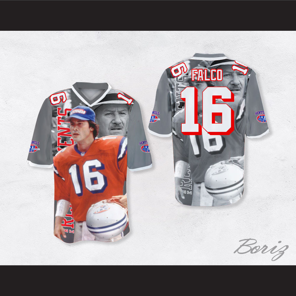16719c8044a Shane Falco 16 Sentinels Coach Scene Football Jersey The Replacements.  Price: $62.99. Image 1. Larger / More Photos