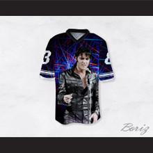 Elvis Presley 3 Singing Black Football Jersey