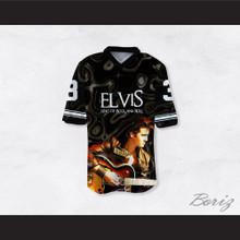 Elvis Presley 3 King of Rock N' Roll Guitar Football Jersey