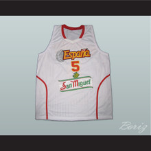 Rudy Fernandez Espana Basketball Jersey White