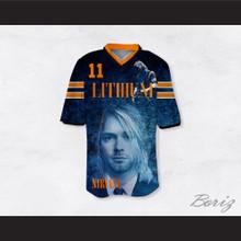 Kurt Cobain 11 Nirvana Lithium Football Jersey