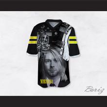 Kurt Cobain 11 Nirvana Guitar Black Football Jersey