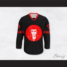 Al Pacino 9 Scarface Illustration Black Hockey Jersey