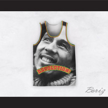 Bob Marley 06 Revolution Black and White Portrait Basketball Jersey