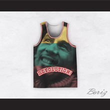 Bob Marley 06 Revolution 3 Color Portrait Basketball Jersey