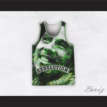 Bob Marley 06 Revolution Green Cannabis Basketball Jersey
