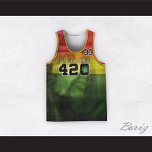 Bob Marley 33 420 Buffalo Soldier Rasta Style Basketball Jersey