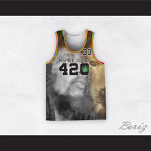 Bob Marley 33 420 Buffalo Soldier Portrait with Lion Basketball Jersey