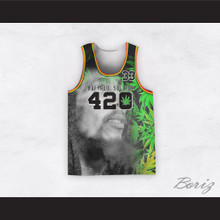 Bob Marley 33 420 Buffalo Soldier Cannabis Basketball Jersey