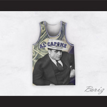 Al Capone 20 Money Design Basketball Jersey