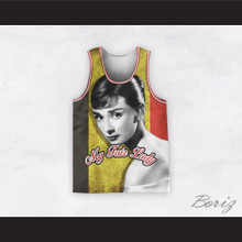 Audrey Hepburn 04 My Fair Lady Striped Design Basketball Jersey