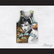 Audrey Hepburn 04 My Fair Lady City Streets Design Basketball Jersey