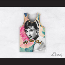 Audrey Hepburn 04 My Fair Lady Flower Design Basketball Jersey