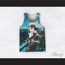 Audrey Hepburn 04 I'm Possible Evening Blur Design Basketball Jersey