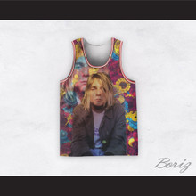 Kurt Cobain 20 Nirvana Psychedelic Flowers Basketball Jersey
