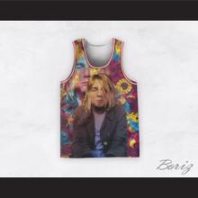 Kurt Cobain 20 Nirvana Psychedelic Flowers Basketball Jersey