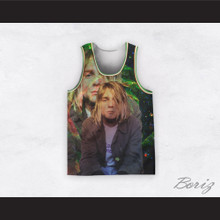 Kurt Cobain 20 Nirvana Fractal Space Basketball Jersey