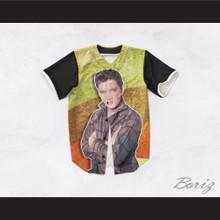 Elvis Presley 1 Striped Design Baseball Jersey