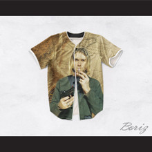 Kurt Cobain 20 Smoking Pistol Map Design Baseball Jersey