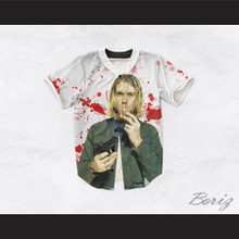 Kurt Cobain 20 Smoking Pistol Blood Stains Design Baseball Jersey
