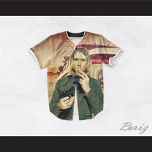 Kurt Cobain 20 Smoking Pistol Truck in the Desert Baseball Jersey
