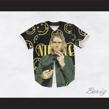 Kurt Cobain 20 Nirvana Black Baseball Jersey