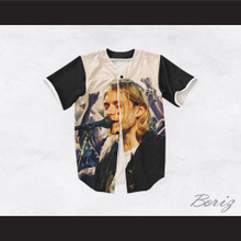 Kurt Cobain 20 Nirvana Hands Up Singing Baseball Jersey