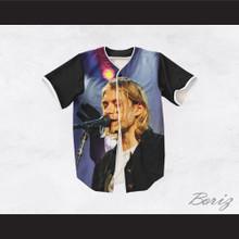 Kurt Cobain 20 Nirvana Singing Baseball Jersey