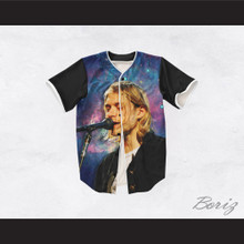 Kurt Cobain 20 Nirvana Night Stars Singing Baseball Jersey