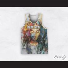 John Lennon 12 Instant Karma Painting Style Basketball Jersey