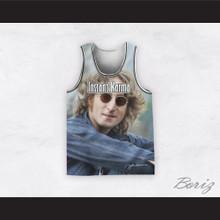 John Lennon 12 Instant Karma Sitting Basketball Jersey