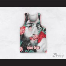 John Lennon 12 Instant Karma Roses Basketball Jersey