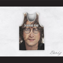 John Lennon 14 Jealous Guy Close Up Basketball Jersey