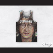 John Lennon 14 Jealous Guy Close Up Radiant Energy Basketball Jersey