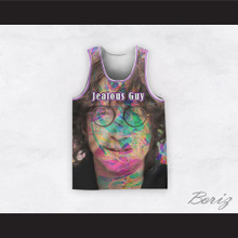 John Lennon 14 Jealous Guy Close Up Psychedelic Basketball Jersey