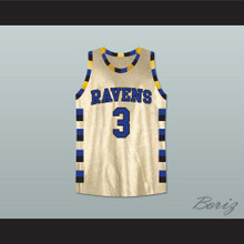 Lucas Scott One Tree Hill Ravens Gold Basketball Jersey