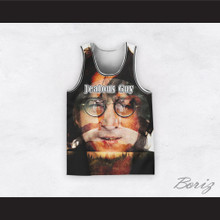 John Lennon 14 Jealous Guy Close Up Nature Basketball Jersey
