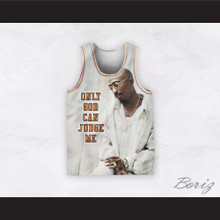 Tupac Shakur 12 Only God Can Judge Me White Basketball Jersey