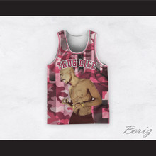 Tupac Shakur 12 Thug Life Pink Camouflage Basketball Jersey